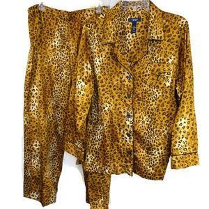 Chaps Pajama Set PJs Women Plus Size XXL Leopard